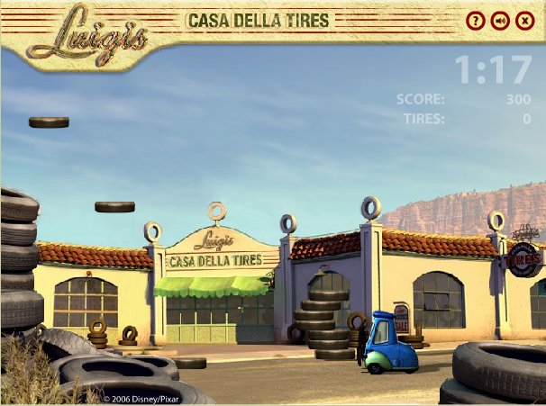 Game: Cars: Luigi's Casa Della Tires